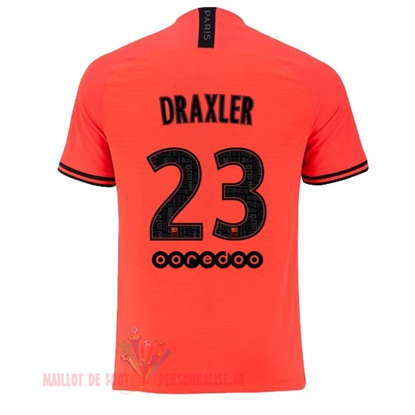 Maillot Om Pas Cher JORDAN NO.23 Draxler Exterieur Maillot Paris Saint Germain 2019 2020 Orange