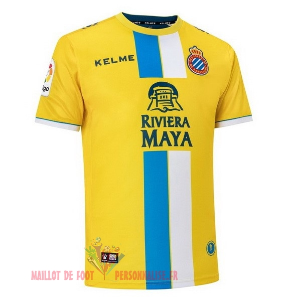 Maillot Om Pas Cher Kelme Third Maillots RCD Espanyol 2018-2019 Jaune