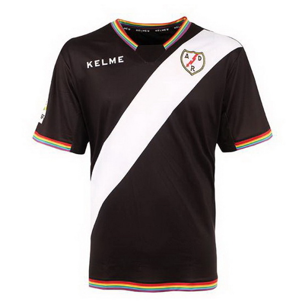 Maillot Om Pas Cher Kelme Third Maillots Rayo Vallecano de Madrid 2017 2018 Noir Rouge