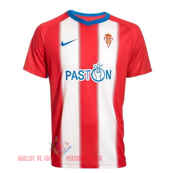 Maillot Om Pas Cher Nike Domicile Maillots Real Sporting de Gijón 2018-2019 Rouge