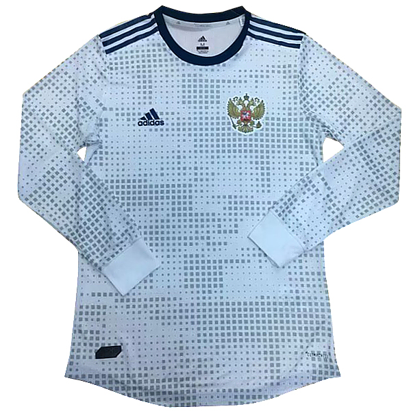 Maillot Om Pas Cher adidas Exterieur Manches Longues Russie 2018 Blanc