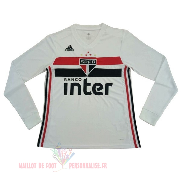 Maillot Om Pas Cher adidas Domicile Manches Longues São Paulo 2019 2020 Blanc
