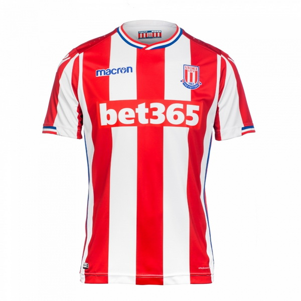 Maillot Om Pas Cher Macron Domicile Maillots Stoke City 2017 2018 Rouge