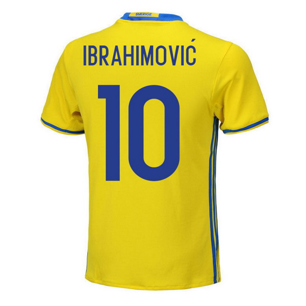 Maillot Om Pas Cher adidas NO.10 Ibrahimovic Domicile Maillots Sweden 2018 Jaune