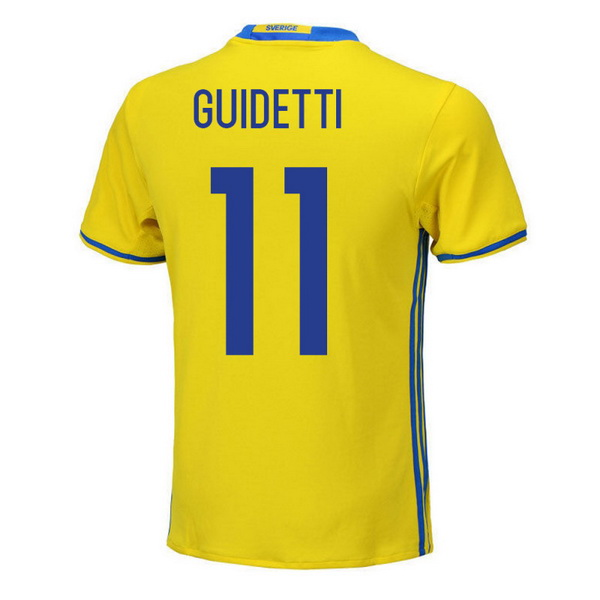 Maillot Om Pas Cher adidas NO.11 Guidetti Domicile Maillots Sweden 2018 Jaune