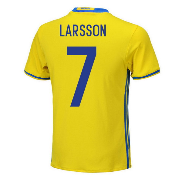 Maillot Om Pas Cher adidas NO.5 Larsson Domicile Maillots Sweden 2018 Jaune