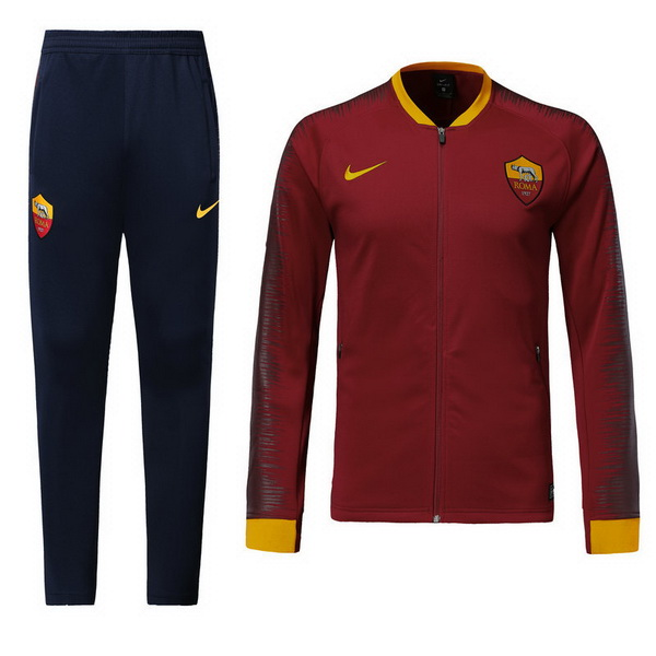 Maillot Om Pas Cher Nike Survêtements AS Roma 2018 2019 Rouge Marine