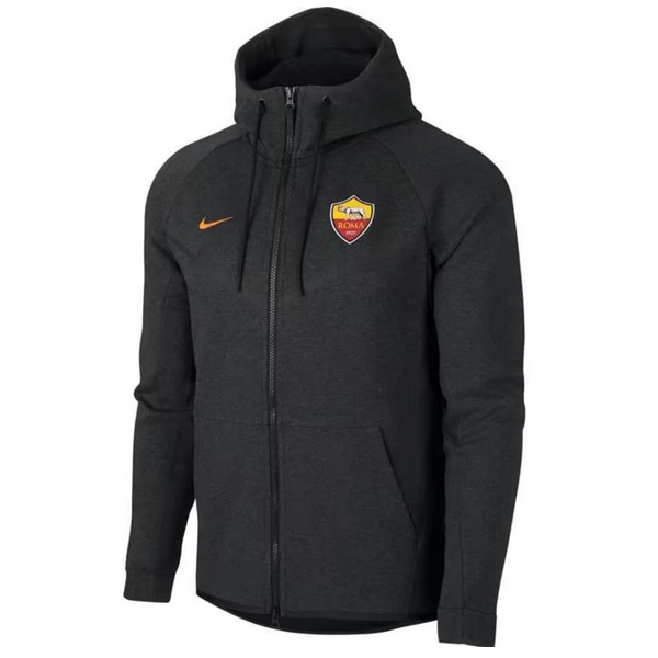 Maillot Om Pas Cher Nike Sweat Shirt Capuche AS Roma 2017 2018 Gris Marine