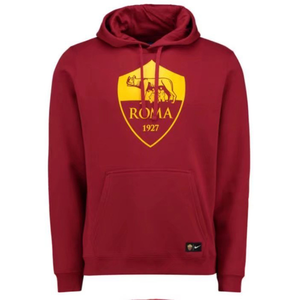 Maillot Om Pas Cher Nike Sweat Shirt Capuche AS Roma 2017 2018 Rouge