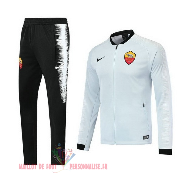 Maillot Om Pas Cher Nike Survêtements AS Roma 18-19 Blanc