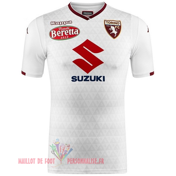 Maillot Om Pas Cher Kappa Exterieur Maillots Torino 2018-2019 Blanc
