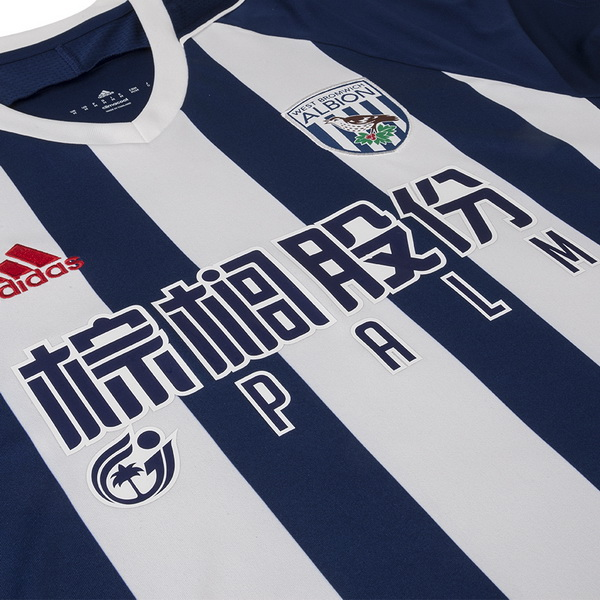 Maillot Om Pas Cher adidas Domicile Maillots West Brom 2017 2018 Bleu